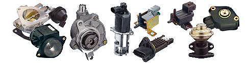 Vakuové pumpy, solenoidní ventily, škrtící klapky, čidla