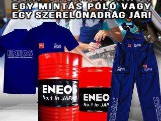ENEOS vásárlásért póló, nadrág
